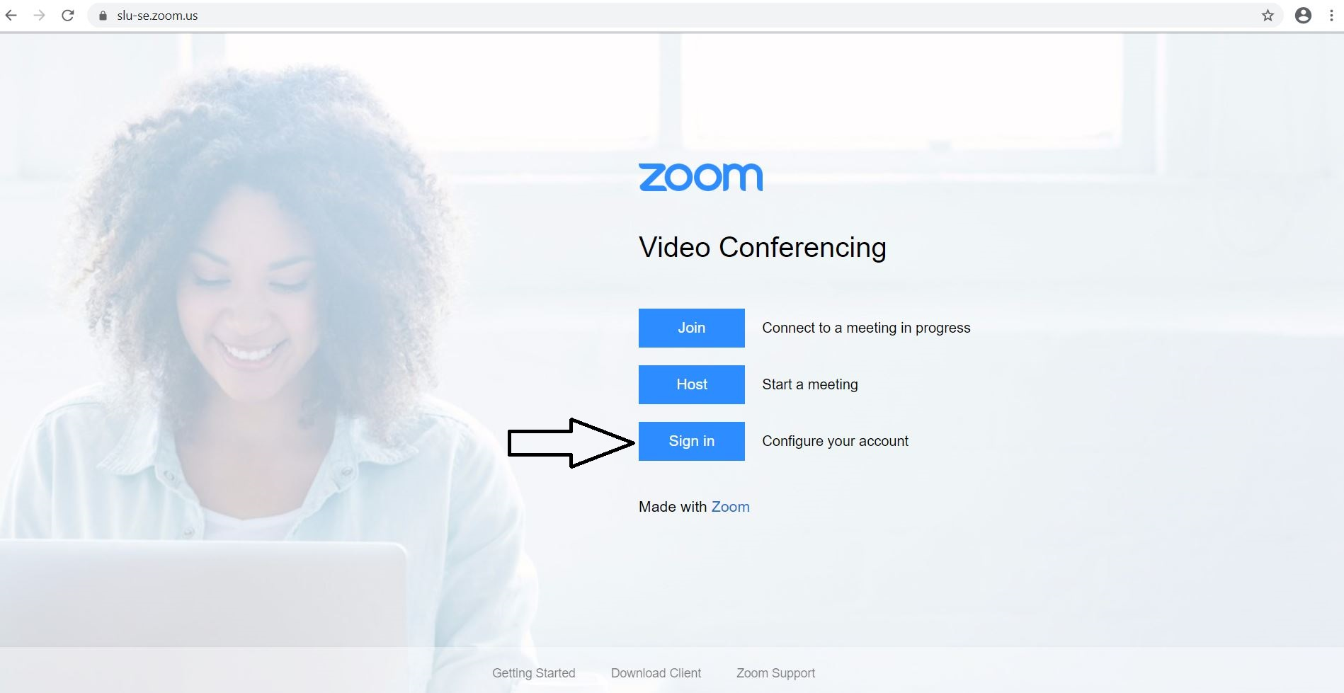 Zoom configure account